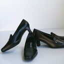 Leather square Office pumps, loafer type/recruit/formal /