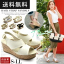 Pre-order sales ◆ 5 / late arrival will foam insole backs traps Cork style wedge Sandals 7.5 cm heel/wedge sole/Cork style/belt / thick bottom / platform / storm / Sling-back / gold / thick belt / legs