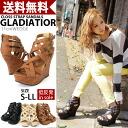 11 cm ウエッジソールグラディエーター Sandals wedge sole / strap / Gladiator / ladies.