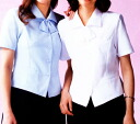 Cool Biz product with the office uniform blouse overblouse short sleeves ribbon