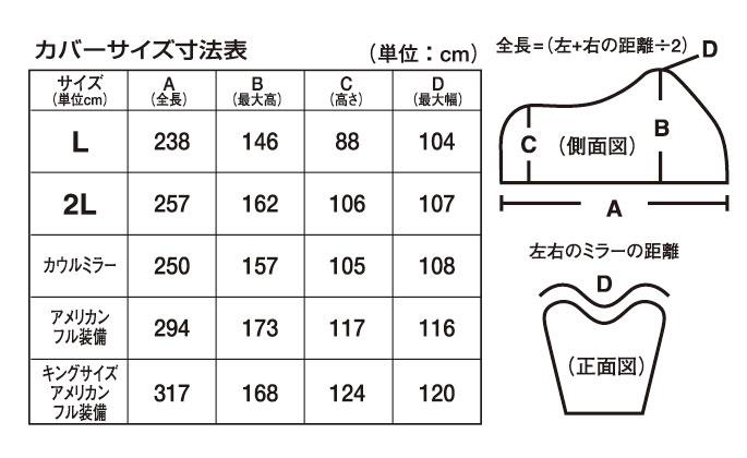 ヤマハバイクカバーGタイプサイズ表