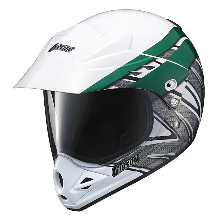 ヤマハヘルメットヤマハグラフィックオフロードヘルメットギブソンYX-3X3Ver-Tグリーン