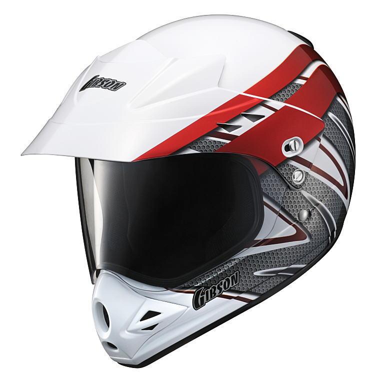 ヤマハヘルメットヤマハグラフィックオフロードヘルメットギブソンYX-3X3Ver-Tレッド