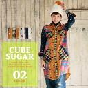 CUBE SUGAR degree sweet Nell check x tat Yoko stub polka dot print shatwan pieces (2 colors)