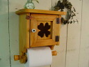 Natural-four leaf clover toilet paper holder-stock with box