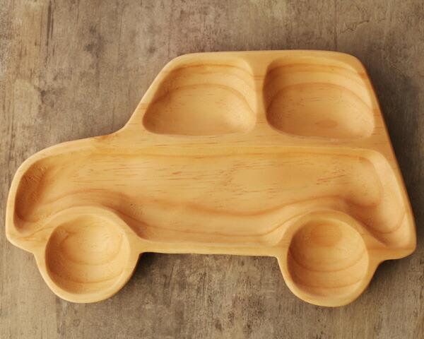 【日本angers】纯手工制作 动物造型松木材儿童用餐盘