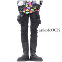 ankoROCK asymmetric heteromorphic side pocket stretch denim cargo skinny pants / men cargo pant Lady's cargo skinny pants black Brach's Kinney denim Kinney cargo pant showy cargo pant lock fashion bean jam lock Harajuku system street
