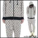 ankoROCK thousand tiger setup / men top and bottom set Lady's parka showy setup individual parka setup animal pattern sarouel pants pattern setup whole pattern lock fashion bean jam lock Harajuku system fashion individual brand personality group