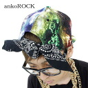 ankoROCK rainbow candy galaxy bandana support chief / men universe handle of chief lady's Cosmo pattern chief flamboyance baseball chief individual cap bandana cap handle of galaxy handle of hat Milky Way handle of space handle of street cap space handle of brand clothes