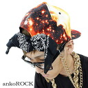 ankoROCK orange pop galaxy bandana back chief / men's space pattern cap lady's cosmo pattern chief flamboyance baseball chief individual cap bandana cap handle of galaxy handle of hat Milky Way handle of space handle of street cap space handle of brand clothes