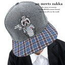 an meets zakka Panda snap back Cap / mens Panda pattern snap back Cap ladies Cap glitz baseball cap distinctive Cap embroidered animal pattern CAP plaid hat two-tone Anco rock Hara-Juku series fashion clothing brand personality sect