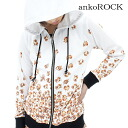 ankoROCK balabarapomeraniamparker - tight - and men's animal pattern Parker women's animal pattern zip up parka flashy Parker unique parka long sleeves Pomeranian pattern dog pattern dog pattern pattern colorful cute pieces white white personality sect A