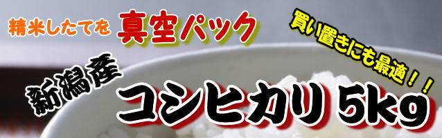 新潟産コシヒカリ5kg(真空パック)