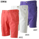 ★ support & ★ 20 Sierra EDWIN GOLF Edwin TC stretch flap タイトショーツ KG5022