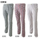 ★ support & time limited special sale ★ EDWIN GOLF Edwin sea soccer flap tapered trousers long Pant KG503F