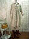 ♪ book sale ♪ Chibi ruffle-collar linen dress off-white M-5 L