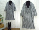Book sales! 10 days delivery cotton white, staggered, ruffled gingham V, one piece made in Japan M-5 L