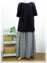 ♪ book sale 10 days delivery black white gingham & houndstooth & Maxi hakama pants M-5 L