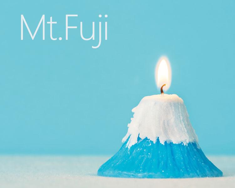 富士山 世界遺産 日本 キャンドル 桜 桜の香り アロマキャンドル サプライズキャンドル 日本のお土産 富士