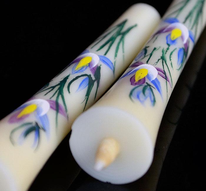 手描き絵ろうそく 越後花ろうそく「桔梗」