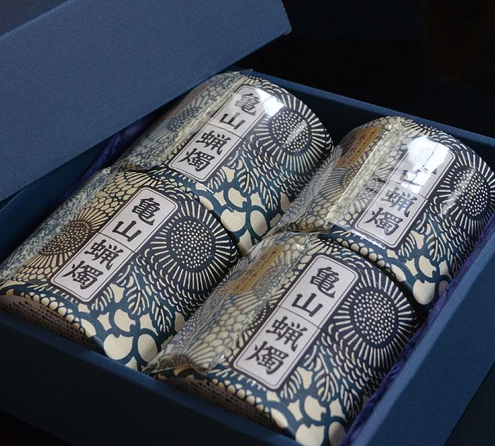 10分ローソク 亀山五色蝋燭
