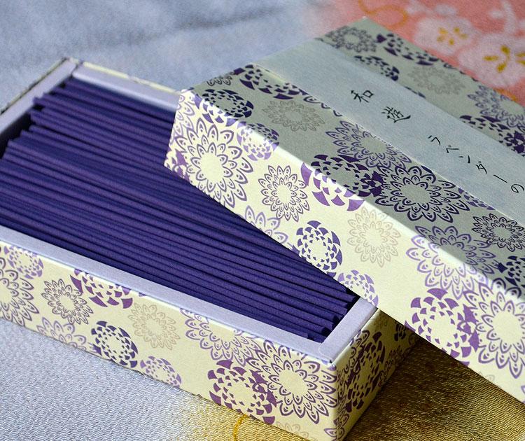 「和遊」平箱 お線香バラ詰 ラベンダーの香り