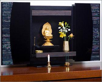 パネル仏壇「やすら樹」螺鈿(らでん)