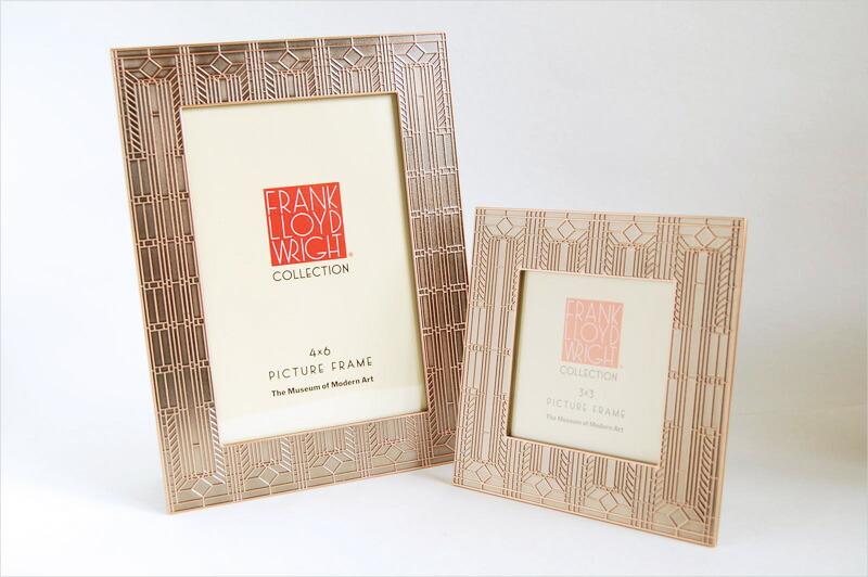 フランク ロイド ライト ヒースハウス メタルフレーム 【Frank Lloyd Wright フォトフレーム 写真立て インテリア雑貨 ギフト 誕生日 近代建築三大巨匠】