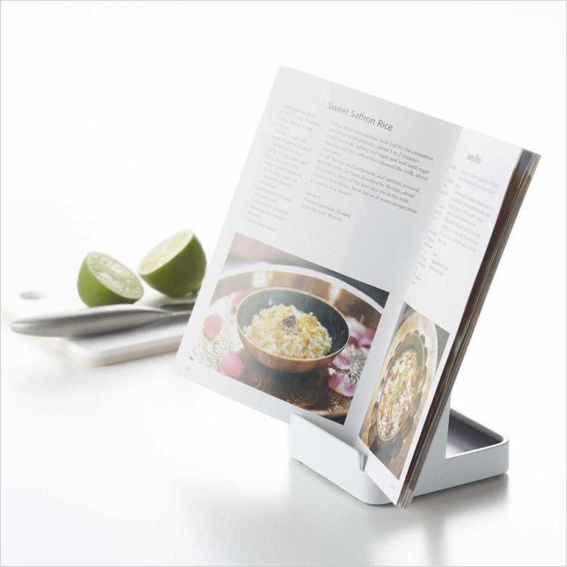 ヤマザキ タワー お玉 & 鍋蓋スタンド おたま オタマ フタ ふた 置き本 iPad レシピ 料理 まな板 鍋  YAMAZAKI tower