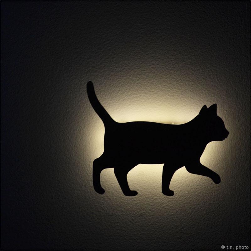キャットウォールライト LEDランプ CAT WALL LIGHT 猫 LED ライト ランプ 猫 ねこ ネコ キャット ウォールランプ フットランプ 間接照明 影 シルエット 自動消灯