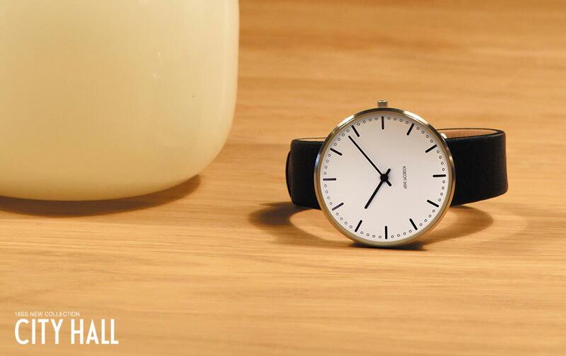 アルネヤコブセン 腕時計 ARNE JACOBSEN Leather ユニセックス アルネ ヤコブセン 時計 ウォッチ デザイナーズ ホワイト ブラック 北欧 ヨーロッパ