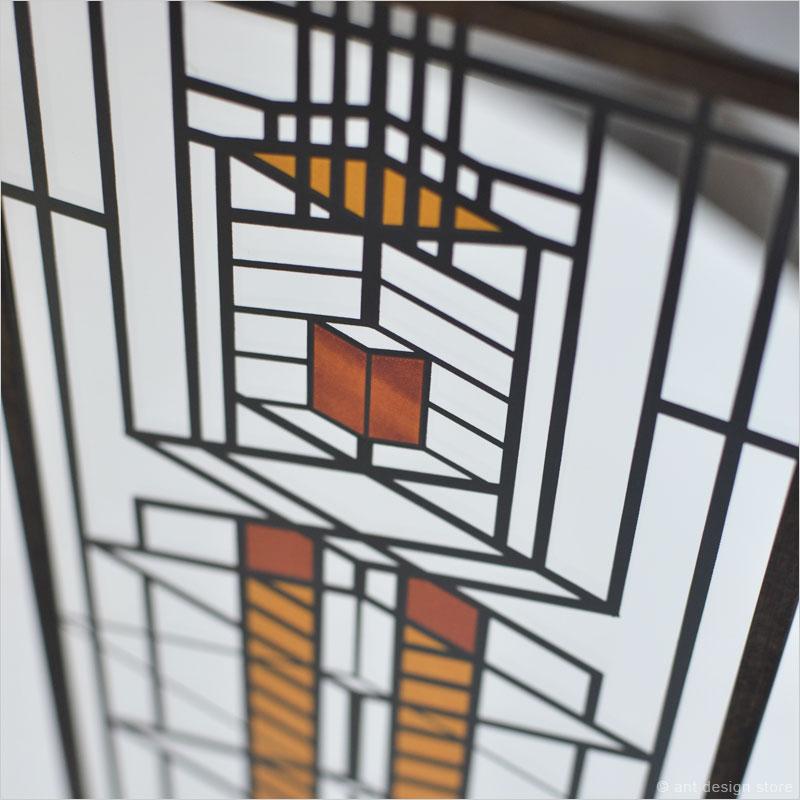 フランクロイドライト アートグラス ステンドグラス ガラス工芸 フランクロイドライト Frank Lloyd Wright インテリア 装飾 建築 アート デザイン
