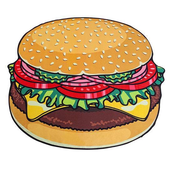 ジャイアントハンバーガータオルケット ブランケット 毛布 タオルビーチ プール ハンバーガー タオルケット レジャーシート ゴザ ござ ピクニック バーガー ラージ Xラージ ジャイアント 巨大 トッピング バスタオル