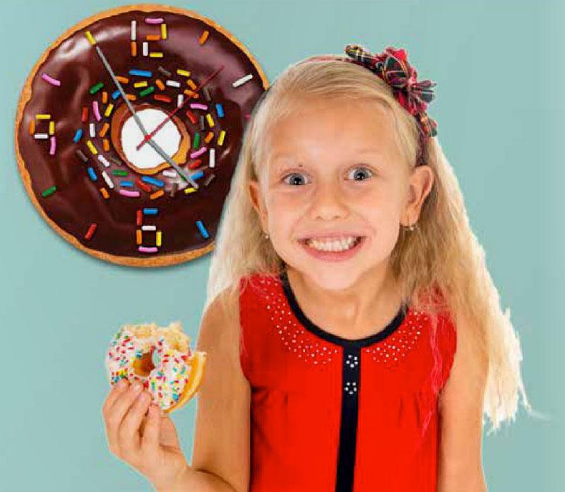ドーナツクロック 掛け時計  掛け時計 壁掛時計 時計 お菓子 ドーナッツ ドーナツ ウォールクロック