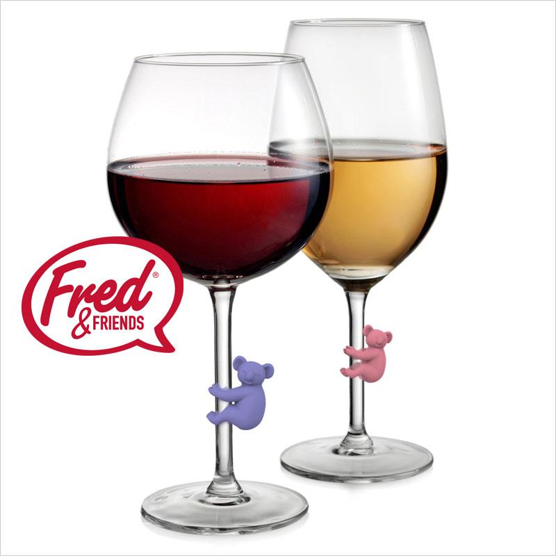 フレッド コアラグラスマーカー 6色セット FRED コアラ こあら パーティ ドリンクマーカー パーティーグッズ ワイン フレッド グラス