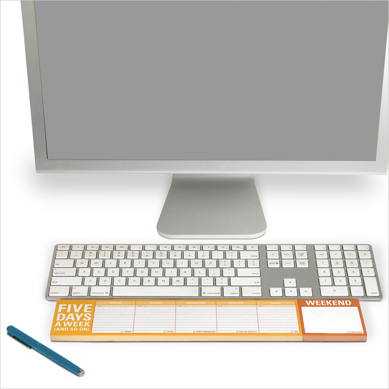 KNOCK KNOCK ファイブ・デイズ・ア・ウィーク キーボードパッド ファイブデイズアウィーク メモパッド  手帳 Five Days a Week Keyboard Pad ノート 一週間 ウィークリー 週