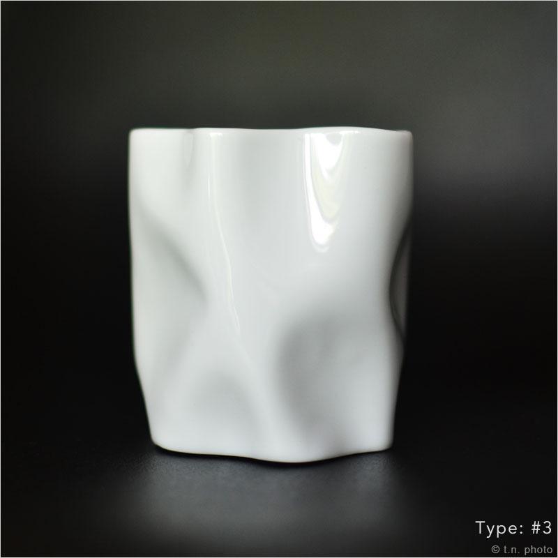 セラミックジャパン ニュークリンクルタンブラー Ceramic Japan new crinkle tumbler クリンクル タンブラー マグ カップ 紙くず クシャクシャ くしゃくしゃ しわしわ 紙 ペーパー 日本製