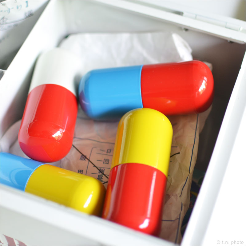 カプセルピルケース ラージ ピルケース カプセル ピルボックス 薬 薬ケース 薬箱 薬入れ 旅行 携帯 Lサイズ L 錠剤 おくすり