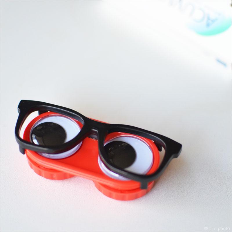 ギーキーアイ コンタクトレンズケース メガネ 目玉 コンタクト レンズ 保存 保管 眼鏡 目 ユニーク ケース