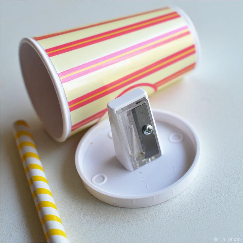 ミルクシェイク 鉛筆削り 鉛筆 筆記用具 デスク雑貨 ステーショナリー ファーストフード 文房具 文具 ミルクシェーク