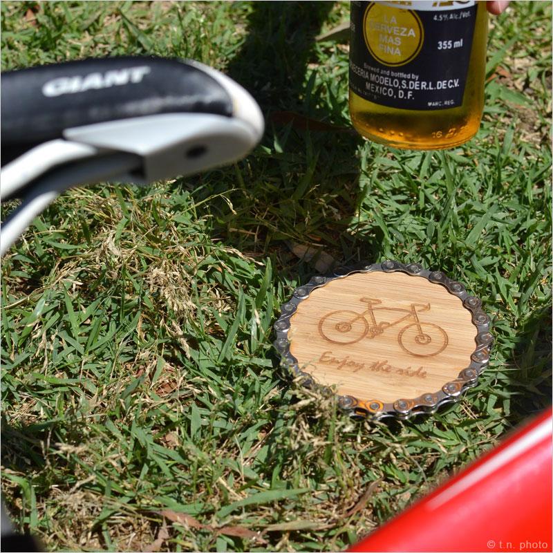 リソースリバイバル リサイクルコースター 1個 リサイクルチェーン ドリンク 飲み物 再利用 再生 自転車 部品 パーツ 竹 Resource Revival チェーン リユーズ リソース リバイバル