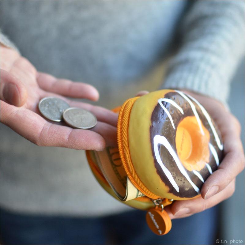 スイーツコインケース ワッフル ドーナツ 小銭入れ マカロン がま口 ガマ口 コインポーチ 財布 硬貨 デザート コインケース レディース