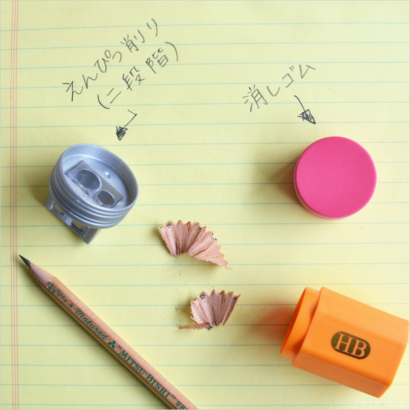 ペンシルトップ 消しゴム & 鉛筆削り 鉛筆削り 手動 消しゴム おもしろ えんぴつけずり けしごむ 鉛筆 エンピツ えんぴつ 鉛筆型 HB 文房具 事務用品 おもしろ雑貨