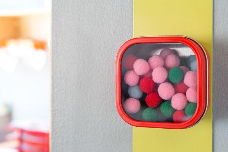 Three by Three ホールドアップケース 3個セット マグネット 収納 磁石 シアトル スリーバイスリー シアトル Seattle ホワイト レッド 赤 白 ケース 容器