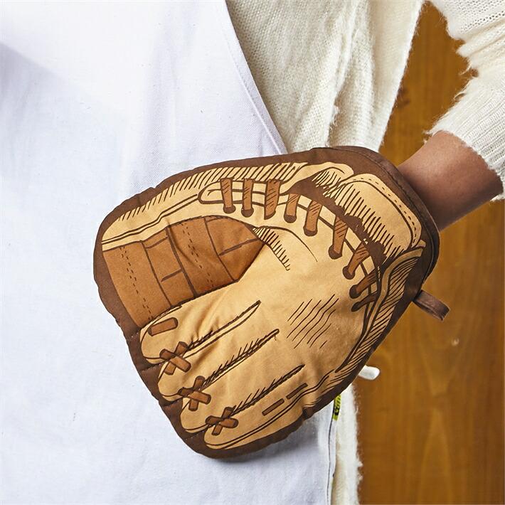 ベースボール オーブンミット 鍋つかみ オーブンミット 野球 ベースボールオーブンミット キャッチボール 料理 クッキング