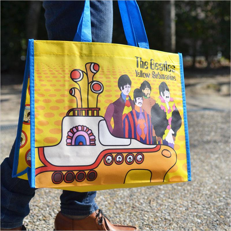 ビートルズ イエローサブマリン ラージエコバッグ The Beatles Yellow Submarine トートバッグ 環境 エコ ショッピングバッグ カバン 鞄