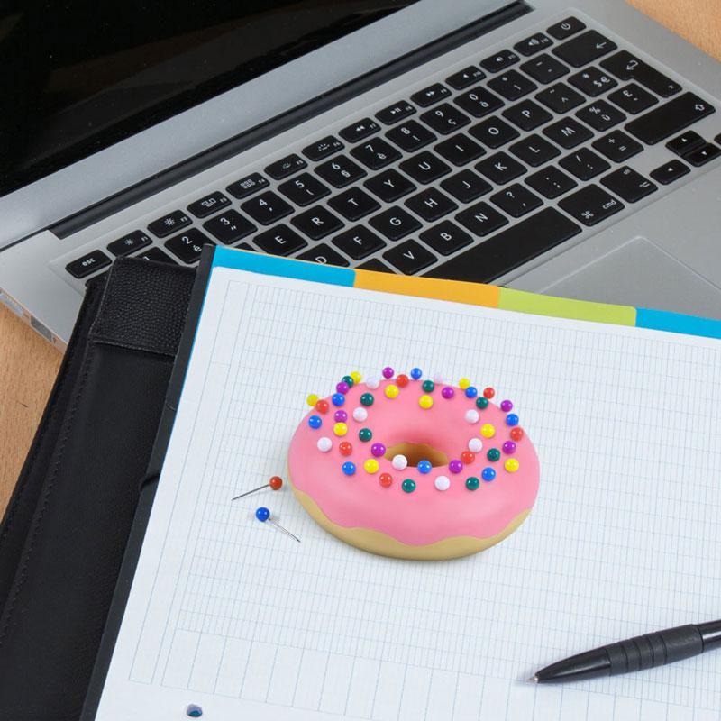 フレッド ドーナツの押しピン Desk Donut ドーナツ プッシュピン セット FRED 押しぴん 画鋲 画びょう おもちゃ おもしろ 雑貨 グッズ かわいい 事務用品 収納