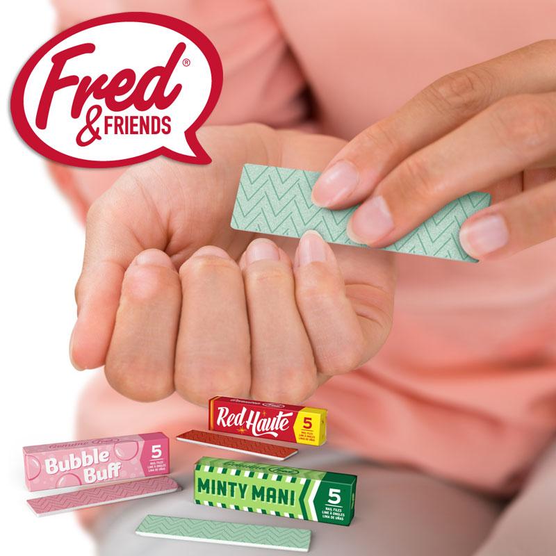 フレッド スティッキーフィンガーズ 爪やすり 5枚セット FRED ネイル やすり 爪磨き ネイルケア 爪 ケア 補修 みがき ガム 雑貨 かわいい STICKY FINGERS スティッキーフィンガー