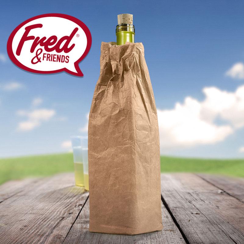 フレッド WINE'O ワインクーラー ボトルクーラー  FRED 保冷バッグ 紙袋 紙 マチ広 ボトル 水筒 ワイン ギフト プレゼント お酒 ユニーク