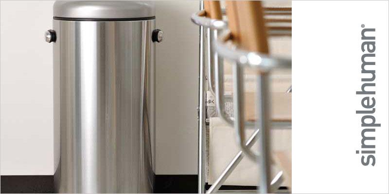 シンプルヒューマン  レトロステップカン 30L ステンレス【Simplehuman FFP キッチン ごみ箱 ゴミ箱 レトロ モダン シンプル シルバー インテリア 雑貨 輸入 海外】